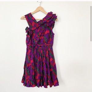 NWT Ulla Johnson Iliana Poplin Ruffle Mini Dress